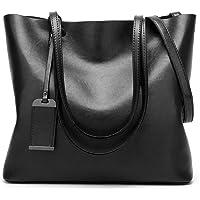 Magibag Women Vintage Leather Handle Satchel Handbags Shoulder Bag