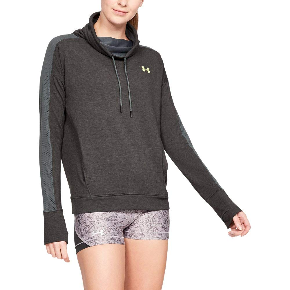 Under Armour Women's UA Featherweight Fleece Funnel Neck XS Pitch Gray