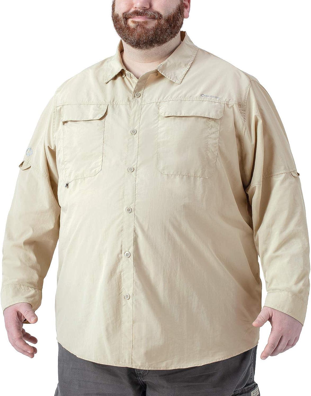Naviskin Men's Plus Size UPF 50+ Sun Protection Long Sleeve Quick Drying Outdoor Shirt Big & Tall XL-4XL: Clothing