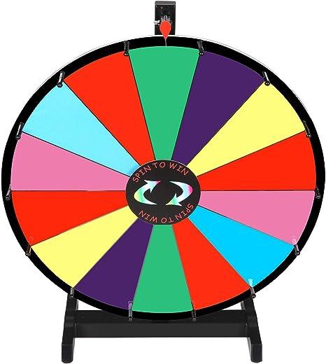 Juego de Mesa portátil de 24 Pulgadas de Color de borrado en seco con Rueda de Premio, Juego de Carnaval de la Fortuna: Amazon.es: Deportes y aire libre