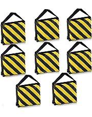 Neewer Lot de 8double poignée Sac de sable, Noir/jaune sacoche de selle pour studio photo Video Stage film Pieds d'éclairage Boom Bras trépieds