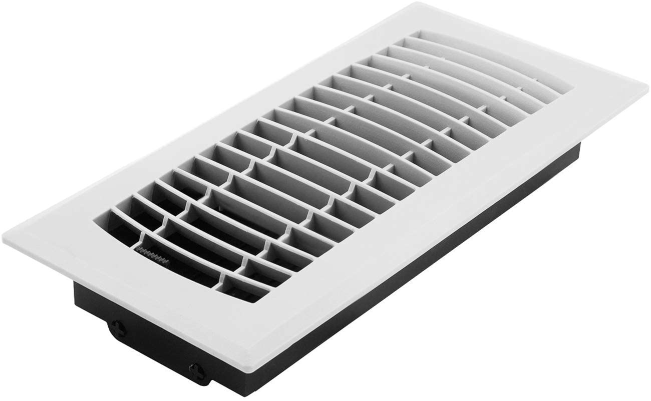 Accord APFRWHL410 Plastic Floor Register with Louvered Design, 4-Inch x 10-Inch(Duct Opening Measurements), White Finish