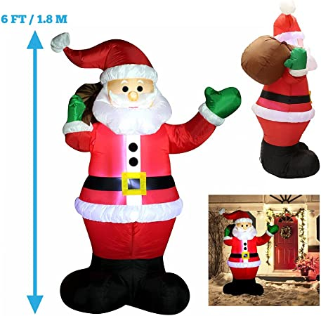Amazon.com: 6 foot; Luz LED Up gigante, diseño navideño de ...
