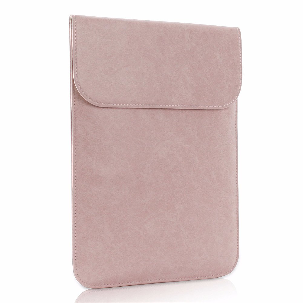 All-inside Pink Synthetic Leather Sleeve for MacBook Air 13'' Pro 13'' with/without Retina and New MacBook Pro 13'' with/without Touch Bar