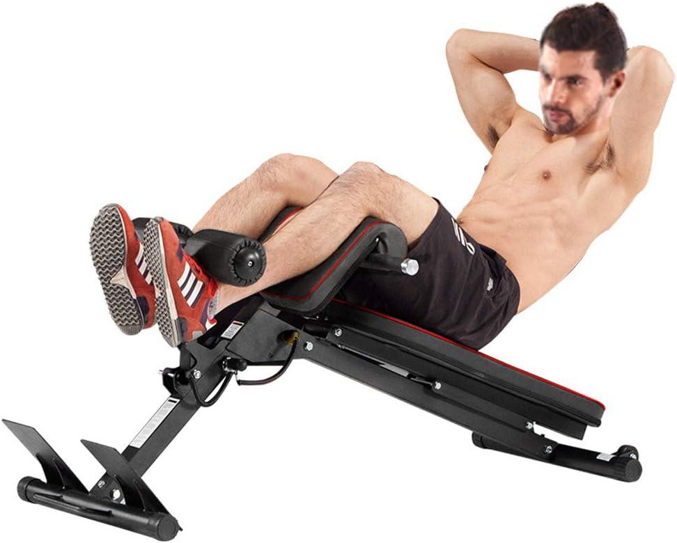 ローマの椅子のヤギ腹部のフィットネス機器のシットアップ多機能家庭ダンベルのベンチ多機能牧場のスツール トレーニングベンチ (Color : 黒, Size : 51.1 * 45.4cm) 黒 51.1*45.4cm