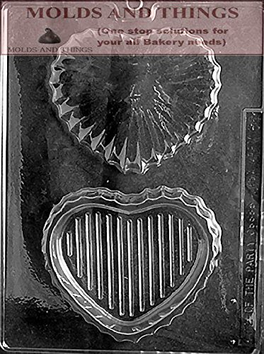 (Heart chocolate candy mold MEDIUM POUR BOX (V022) Chocolate Candy mold With Copywrited Candy Making Instruction -)