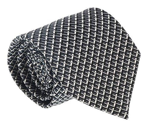 (Ermenegildo Zegna Grey Geometric Tie for mens )
