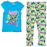 Turquoise Peace and Love Pajamas for Girls