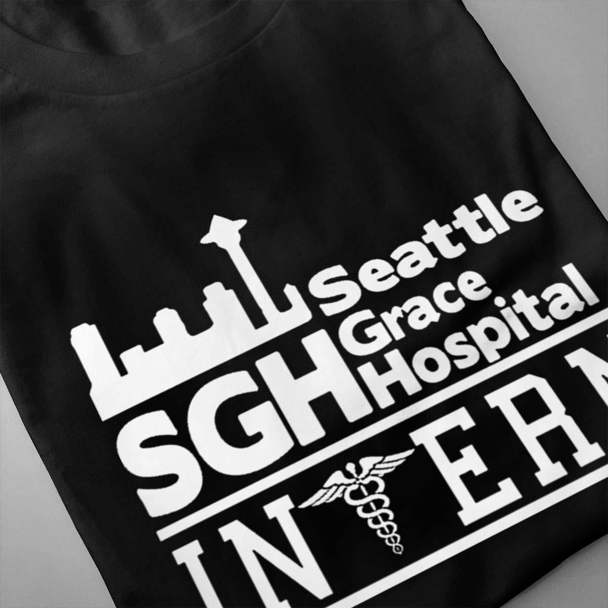 LANBRELLA Seattle Grace Hospital SGH Intern Greys Anatomy Funny Crew-Neck Short Sleeve T-Shirt for Mens