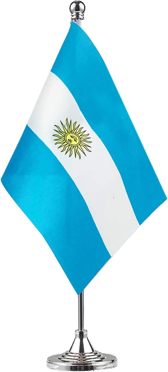 GentleGirl.USA Argentina Flag Argentine Flag Table Flag,Desk Flag,Office Flag,International World Country Flags Banners,Festival Events Celebration,Office Decoration,Desk,Home Decoration