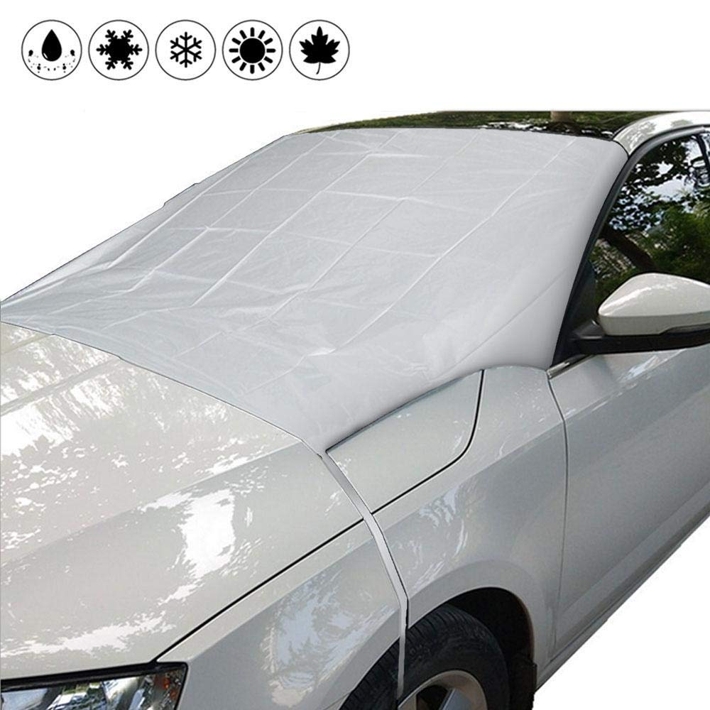 Car Windshield Snow Cover, Womdee Auto Windshield Snow Magnetic Cover 4 Season Protection Snow Windshield Cover with Magnetic Edges Fits for Any Car Winter Snow Removal Summer Insulation 210 * 120cm