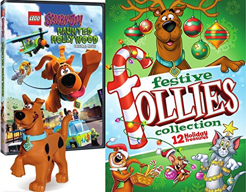 Holiday Scooby-Doo Lego Mini Figure & Festive Follies Trio of Fun Tom & Jerry / Yogi Bear All Stars Animated Cartoons + Lego Haunted Hollywood with Toy ()