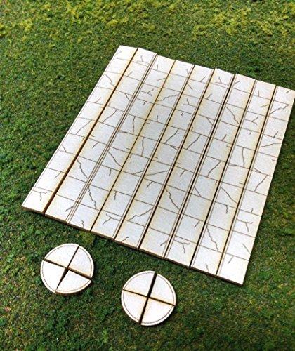Train Time Laser N Scale Laser Cut Sidewalk - 405 Scale Feet