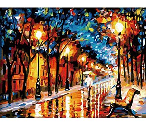 Jigsaw Puzzle 1000 Piece Walk in Rain DIY Color Unique Gift for Home Art Decor Classic Puzzle 3D Puzzle Wooden Toy Gift