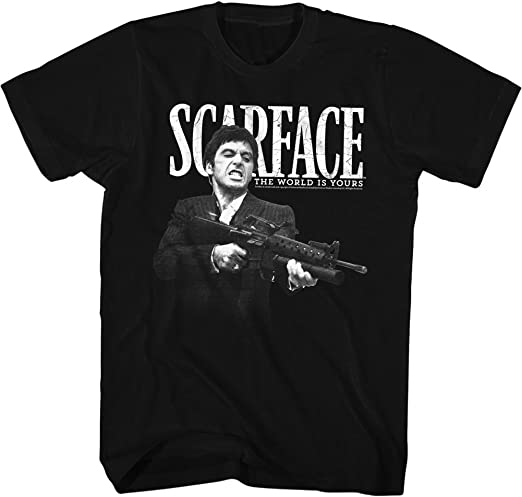 Scarface Movie CLASSIC POSTER The World is Yours Women/'s T-Shirt All Sizes