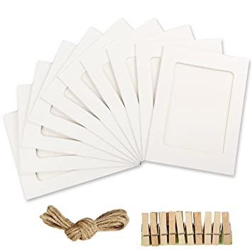 Amazon.com - Yilove 4x6 Paper Picture Frames, DIY Cardboard Photo ...