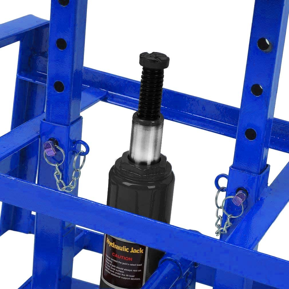 AUFUN Rampe de Chargement 2T avec cric hydraulique Hauteur r/églable 2000 kg Largeur de pneus jusqu/à 225 pour camions et Petits transporteurs