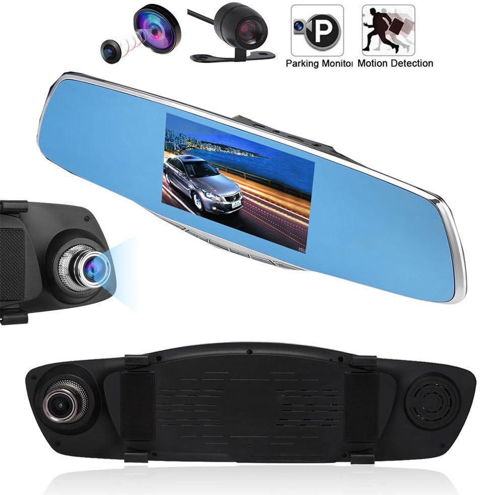 HD 1080P Car Rearview Mirror DVR Dual Lens Video Dash Cam Camera Night Vision