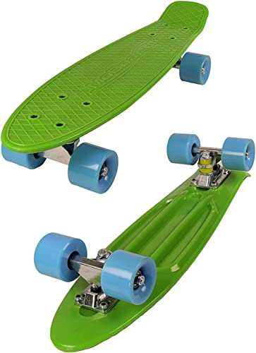 22-inch Vintage Skateboard – Skate for Beginners and Professionals – Shortboard for Kids and Adults – Stylish Board with Interchangeable Wheels
