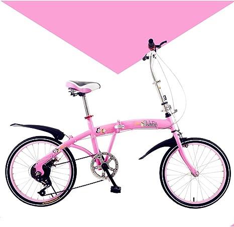 LETFF Bicicleta Plegable para Adultos de 20 Pulgadas para Hombre y ...