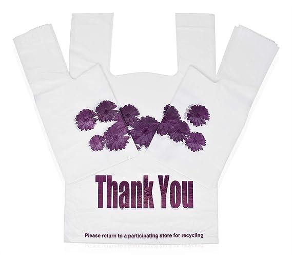 Amazon.com: Bolsas de plástico con diseño de flores moradas ...
