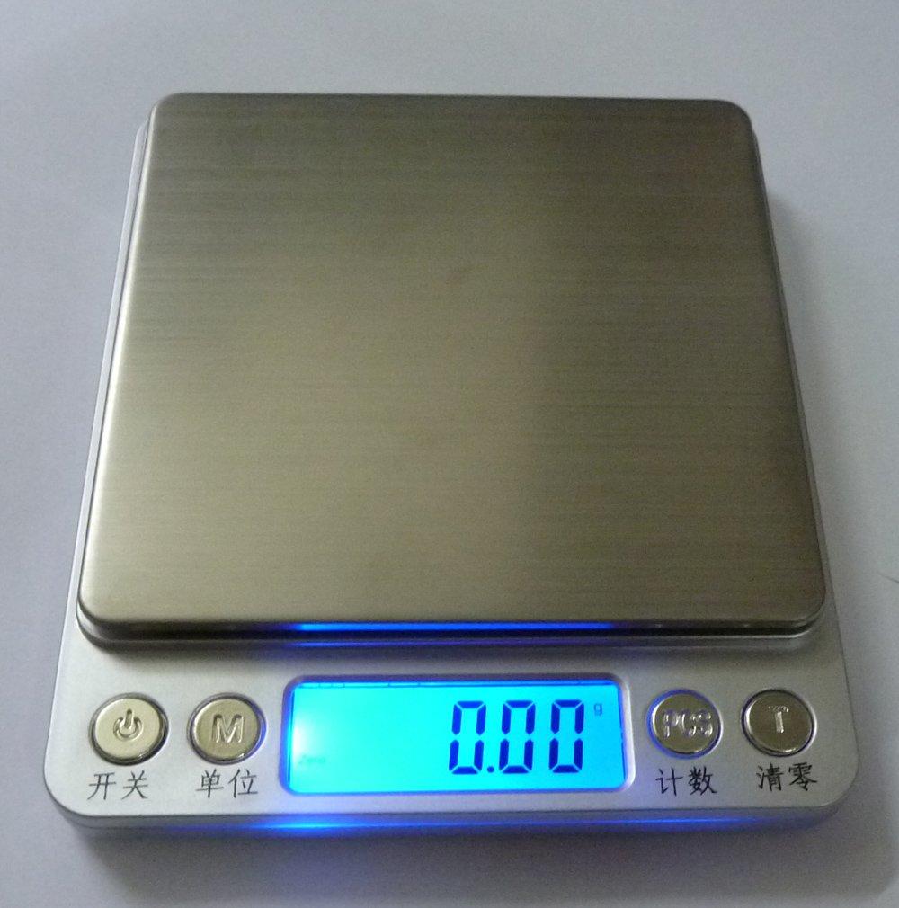 Balanza electrónica de precisión 500g0.01g micro balanzas de ...