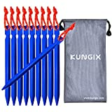 "Kyпить Kungix Tent Stakes Pegs 7"" Aluminium Alloy with Reflective Rope 10-Piece (Blue) на Amazon.com"