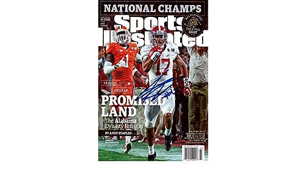 Promised Land Alabama Crimson Tide Kenyan Drake Sports Illustrated Autograph Replica Super Print