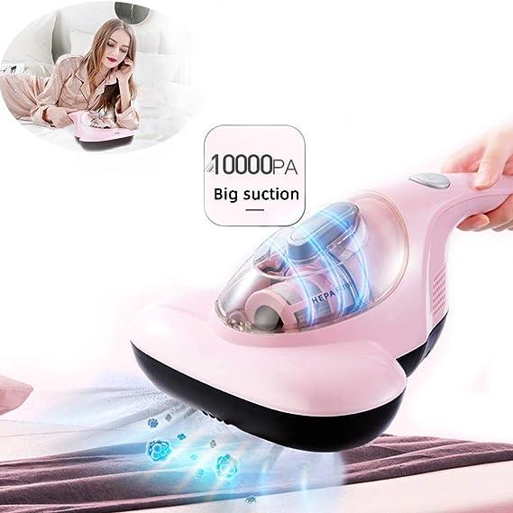 roroz Aspirador Anti-Bacterias para Cama Y Sofá, Mini UV Aspiradoras De Mano Hogar, DeshumidificacióN De Aire Caliente De 50 + + Succión Grande De 10000 Pa + Cabezal De Vibración, para El