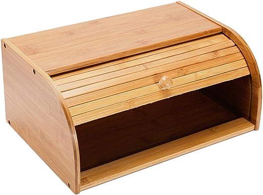 likeitwell Caja de Almacenamiento de bambú Natural para Pan, contenedor para el hogar: Amazon.es: Hogar