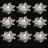 Yantu 12pcs Clear Crystal Flower Swirl Hair Twists Coils Spirals Hair Pin Clip Accessories