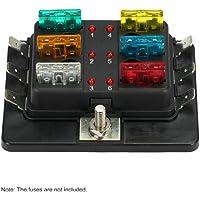KKmoon Caja de Fusibles 6 Vías Portafusibles
