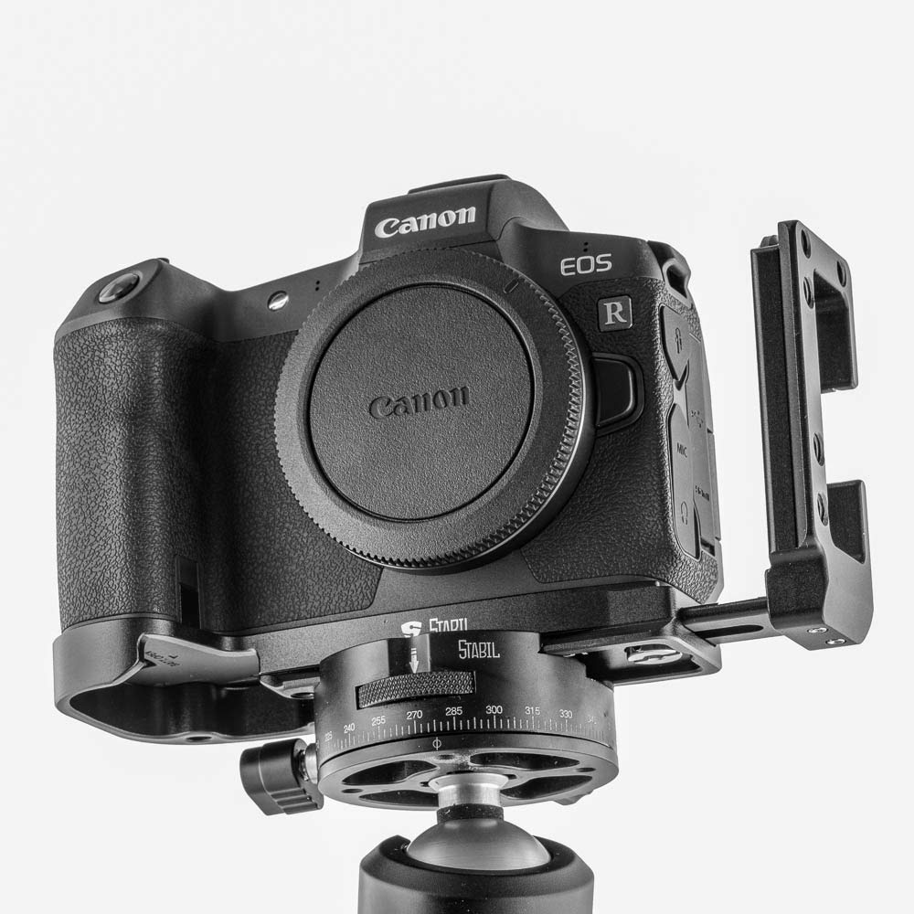 New 2019 Stabil LCR : L Plates (Bracket) for Canon EOS-R Camera : Black Version by Bombo