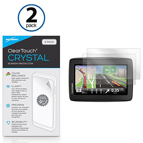 Amazon.com: Tomtom Via 1500 Screen Protector, BoxWave [ClearTouch