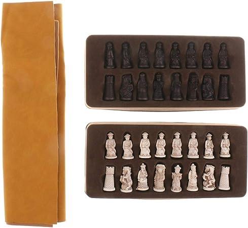 LQW HOME Ajedrez Figuras de Soldados de ajedrez de Mesa Set con Piezas de ajedrez for Viajar Juego de Mesa: Amazon.es: Hogar
