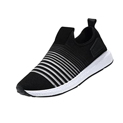 TM Men's Spring Casual Striped Travel Shoes Breathable Flats Fashion Sport Shoes