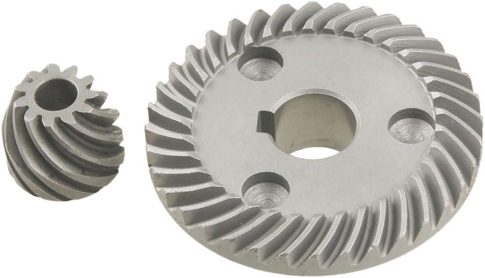 RETYLY 2 Pcs Reemplazo espiral engranajes conicos para 9553 Amoladora de angulo