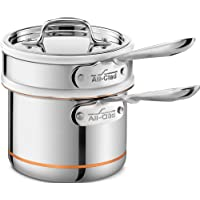 All-Clad 62025SS Copper Core 5-Ply Bonded Dishwasher Safe Porcelain Double Boiler Insert/Cookware, Silver