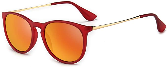 SUNGAIT Vintage Round Classice Sunglasses
