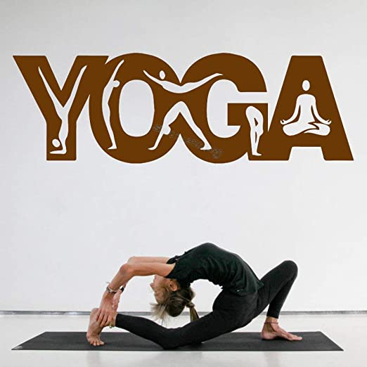 zqyjhkou Citas de Yoga Etiqueta de la Pared Postura de Yoga ...