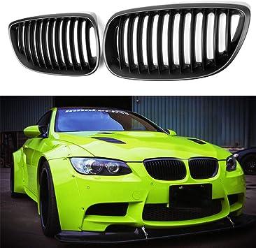m3 Matte Black Sport Grill Grille Radiator Grill Set for BMW e92 Coupe e93 Cabrio
