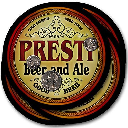 Prestiビール& Ale – 4パックドリンクコースター   B003QX70DI