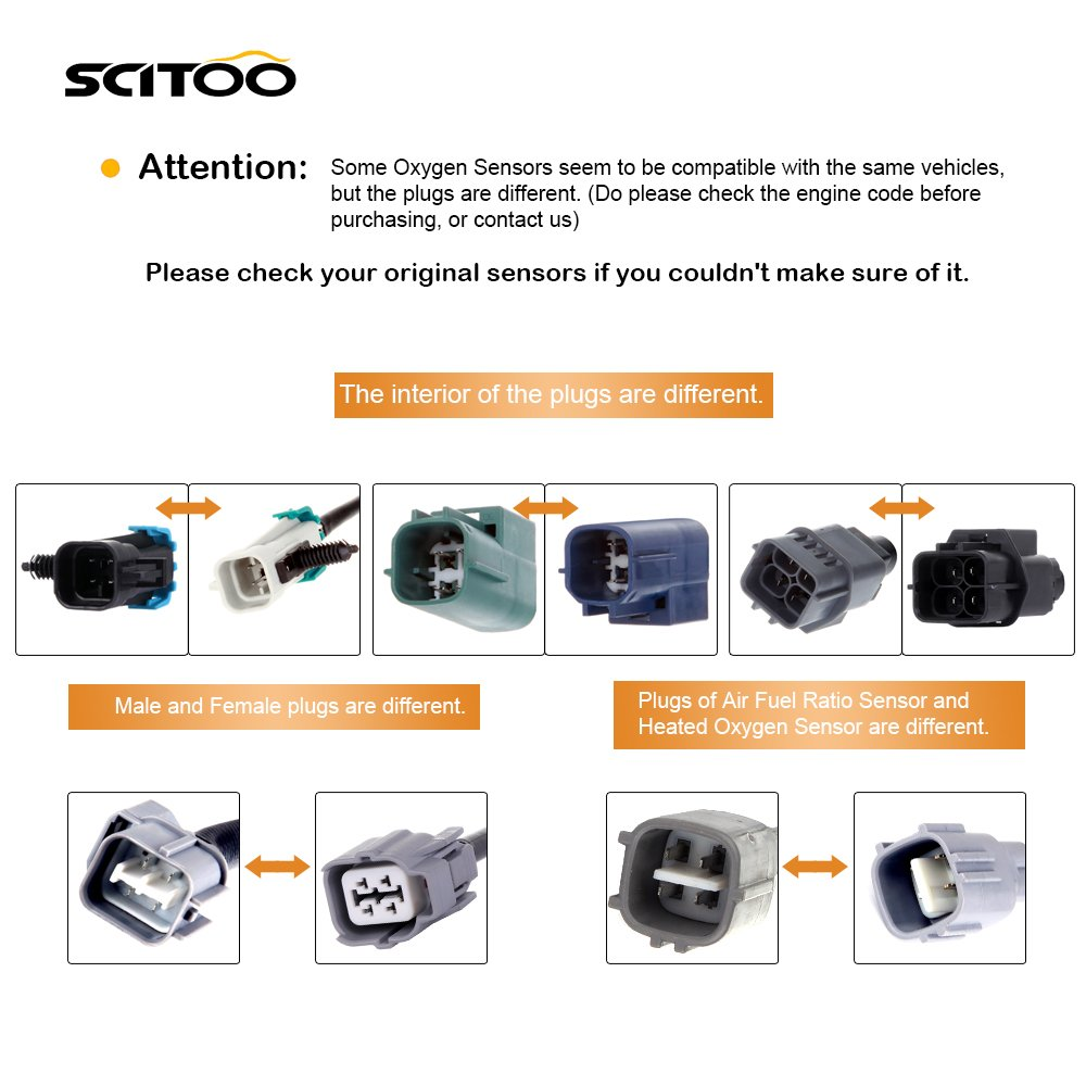 Air Fuel Ratio Sensor Oxygen Sensor Upstream+Downstream 234-9040 234-479 Compatible 2003 with 2003 2004 2005 2006 2007 Honda Accord Coupe Sedan 2.4L