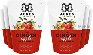 product image for 88 Acres Seed Granola | Ginger Apple | Gluten Free, Nut Free, Non GMO, School Safe, Vegan Breakfast Cereal | 6 Pack, 10 oz