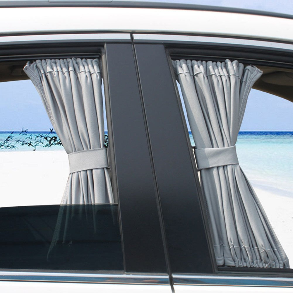 Basong Cortina Universal eclipsar sol de coche protección contra sol con pista de aleación de aluminio 50*39cm color de mijo