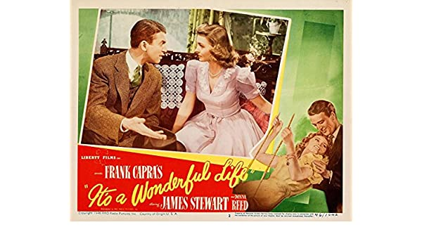 "It/'s a Wonderful Life Lobby Card Poster Replica 14 x 11/"" Photo Print"