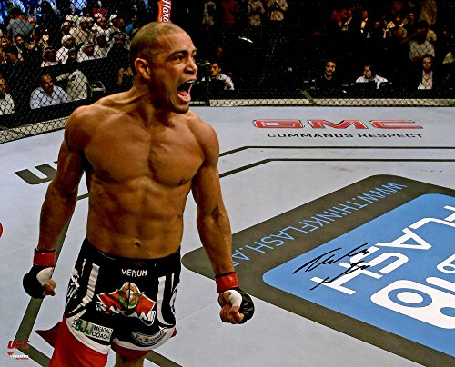 thales-leites-ultimate-fighting-championship-autographed-16-x-20-close-up-yelling-photograph-fanatic