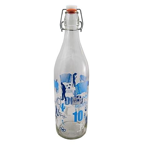 Giosal Botella Cristal Lory 100 Cl decoro Argentina Cierre hermético ...
