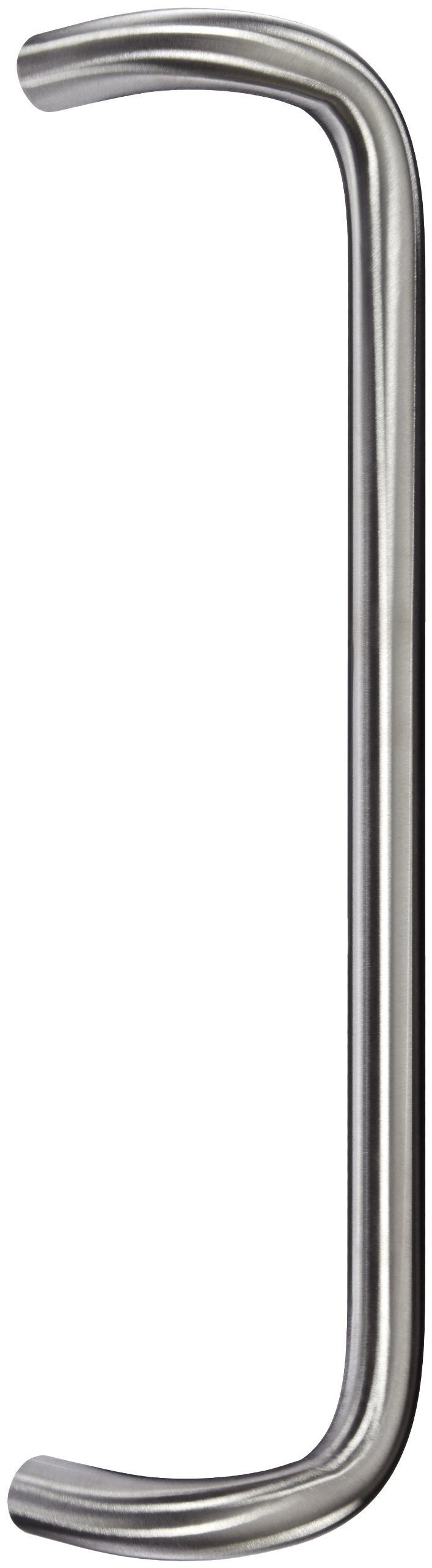 Rockwood BF159C17.32D Stainless Steel 90-Degree Offset Door Pull, 1'' Diameter x 18'' Center-to-Center, Concealed Mounting for 1-3/4'' Door, Satin Finish