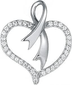 Valentine Kaye Silver Pendant For women, Heart Shape - SP03555a
